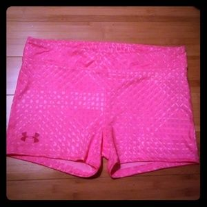 Under Armour girl's YXL fitted shorts NWT